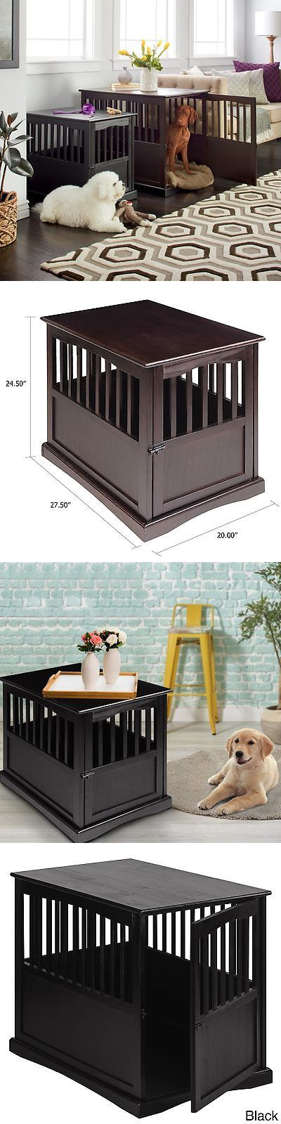 Cages and Crates 121851: Wooden Furniture End Table Pet Crate Small Black Cage Kennel Décor Indoor New -> BUY IT NOW ONLY: $97.82 on eBay!