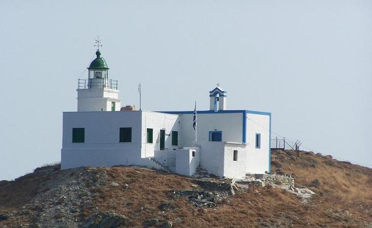 Agios Nikolaos Lighthouse in Kea, Greece