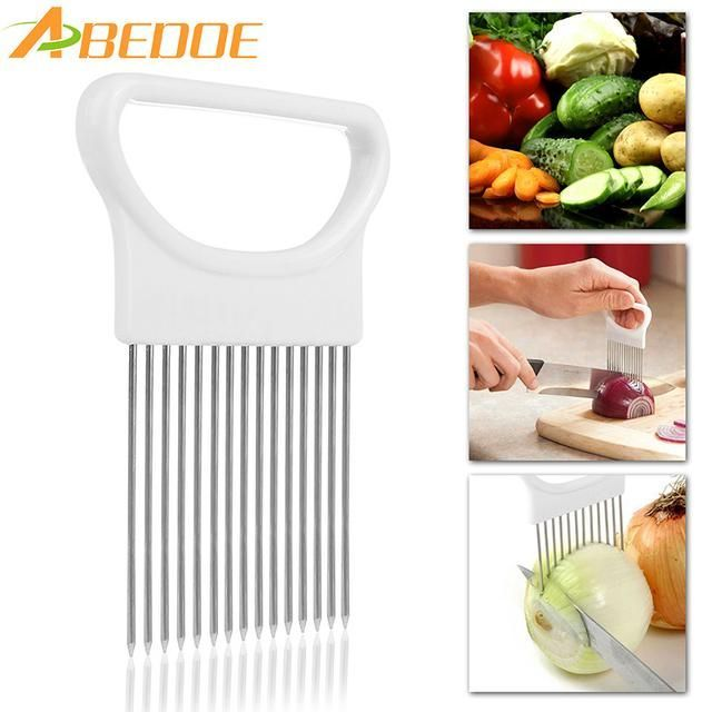 ABEDOE 1Pcs Onion Cutter Slicer Stainless Steel Vegetable Slicer Holder Kitchen Gadgets Potato Cutter Cooking Tool http://ros-variety.myshopify.com/products/abedoe-1pcs-onion-cutter-slicer-stainless-steel-vegetable-slicer-holder-kitchen-gadgets-potato-cutter-cooking-tool?utm_campaign=crowdfire&utm_content=crowdfire&utm_medium=social&utm_source=pinterest #cookinggadgets