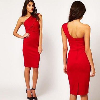 Women's Wrapped Chest Single Shoulder Strap Dress – CAD $ 21.43