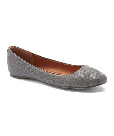 Love this Gray Snake-Embossed Afra Flat on #zulily! #zulilyfinds