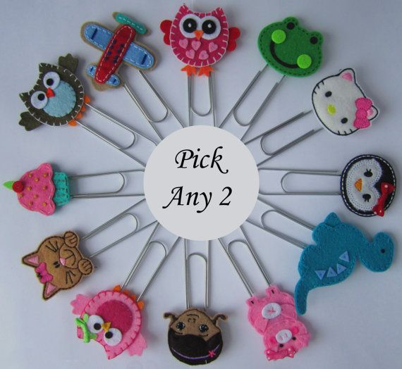 PICK Any 2 Bookmarks, Any 2 Bookmarks in our Shop, Owl, Airplane, Truck, Kitty, Dinosaur, Mermaid Bookmark, Place Holder