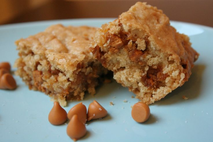 Oatmeal Butterscotch Blondies | Milk and cookies | Pinterest