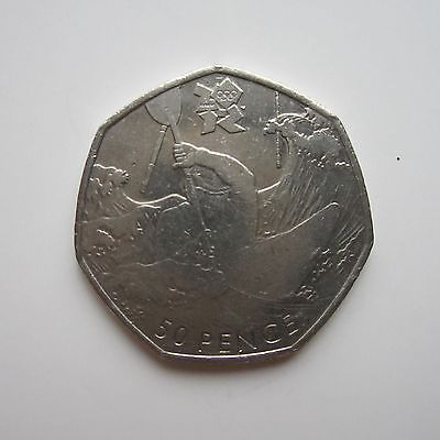 Genuine #london 2012 #olympics #commemorative 50p (circulated): canoeing,  View more on the LINK: 	http://www.zeppy.io/product/gb/2/162301522733/