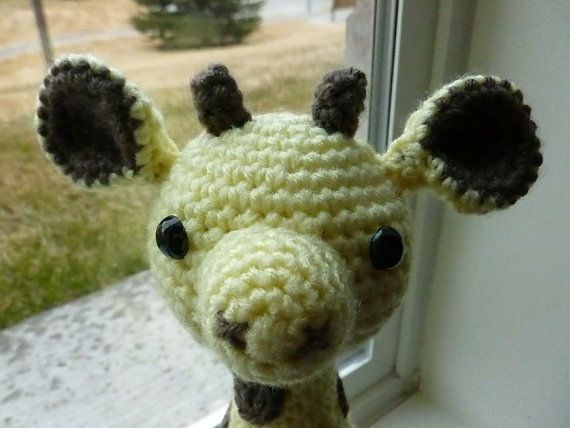 Made to OrderGeoffrey the Giraffe Crocheted Toy by CurlyTopCorner, $26.99