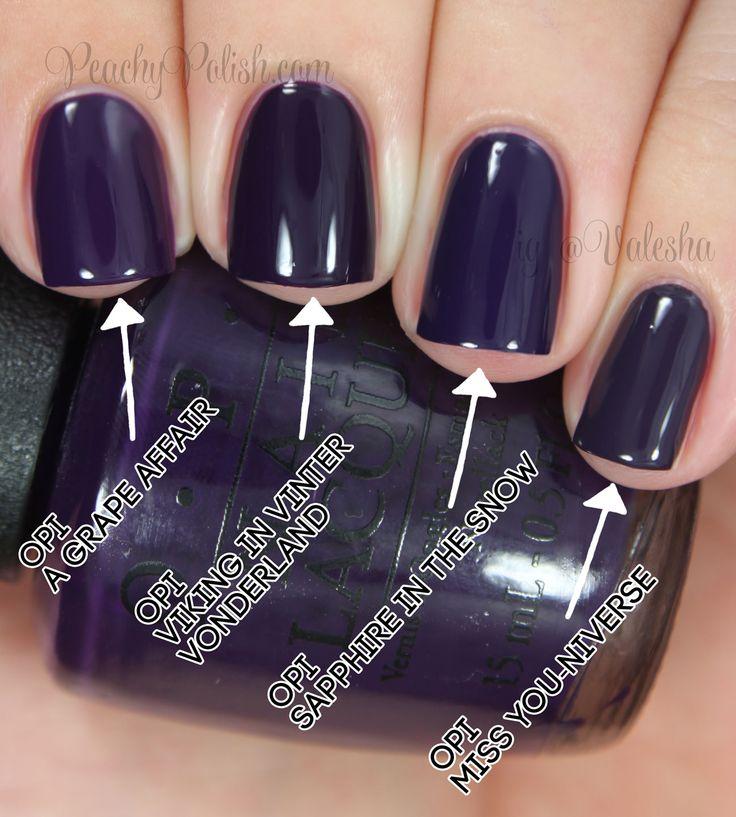 Purple Taupe Nail Polish: OPI Viking In A Vinter Vonderland Comparison