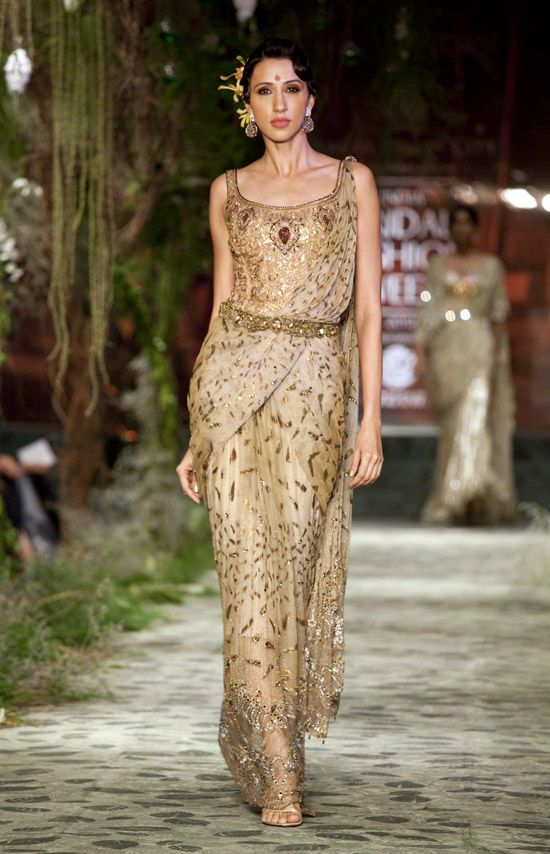 Tharun Thahiliani's gorgeous east-meets-west gown