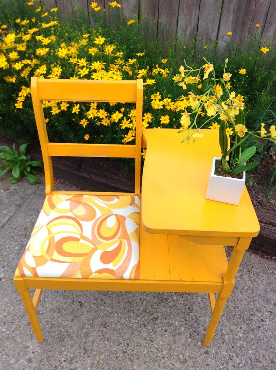 Gossip Benches Part - 22: Refurbished Vintage Gossip Bench By HUEisit On Etsy, $125.00