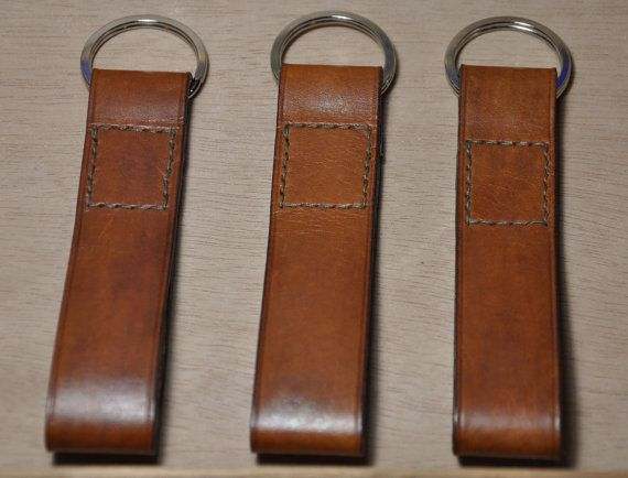 Handmade leather keychain leather key fob leather by CentaurStraps