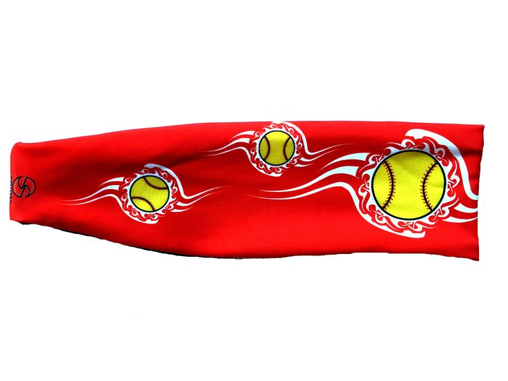 SVF Softball Logo Headband (One Size, Red). One Size Fits Most. 3 inches tall in the front tapering to 1.5 inches tall in the back and 20 inches around. This Performance Activewear fabric is Moisture Wicking, Antibacterial, UV protected, and offers a 4-way Stretch for optimal comfort and durability. Made in the USA.