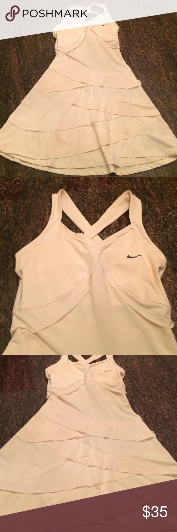 Nike  DRI FIT dress Very cute dress . A little yellow inside the straps in the back . It's not noticing Nike Dresses Mini