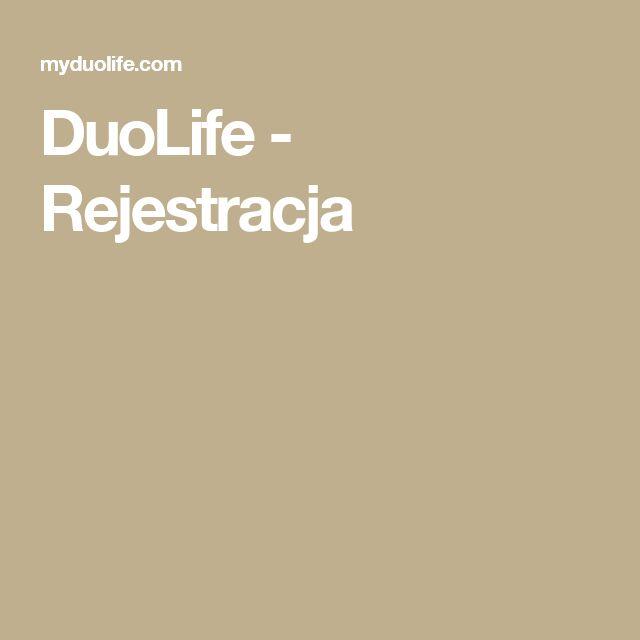 DuoLife - Rejestracja