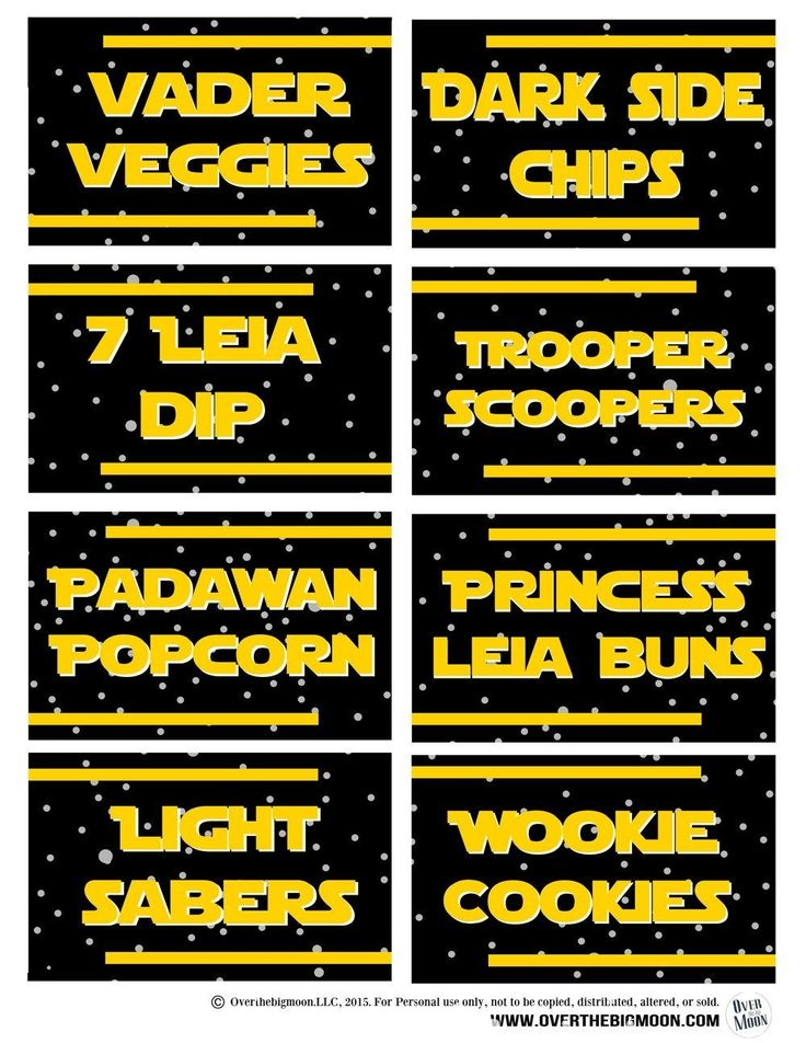 May the 4th Be with You - Star Wars Food Free Printables ...