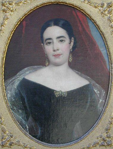DOÑA LUISA GÓMEZ DÍAZ DE REYES SARAVIA, 1844 Óleo sobre tela 75 x 60 cm Museo Nacional de Bellas Artes, Santiago, Chile
