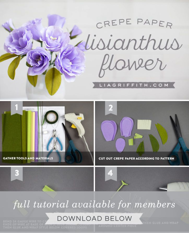 Easy Diy Crepe Paper Lisianthus Tools Steps And Tutorial Flori