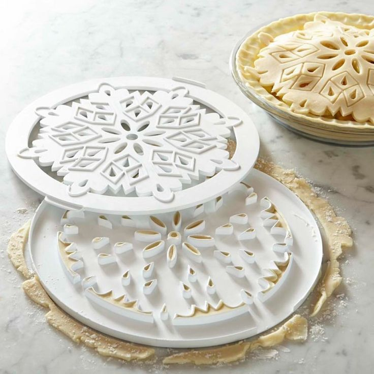 Williams-Sonoma Snowflake Pie Dough Cutter: http://www.stylemepretty.com/living/2015/11/17/best-cookware-and-bakeware-for-your-kitchen/