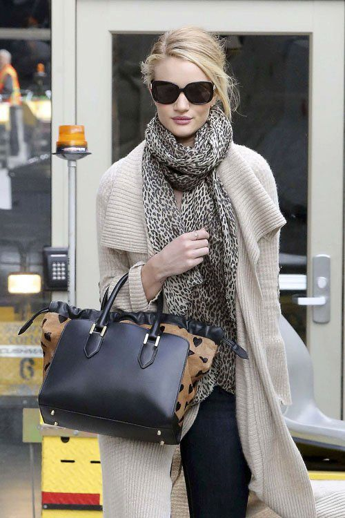Rosie Huntington-Whiteley at LAX Airport Los Angeles ~ February 19, 2013
