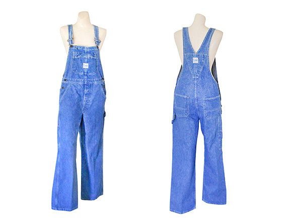 Vintage Women Denim Overall Lee Overall Women Bib by #TheVilleVintage