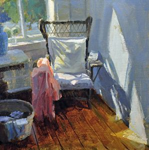 In a Quiet Corner by artist Charles Iarrobino. A #workofart found on the FASO Daily Art Show - http://dailyartshow.faso.com