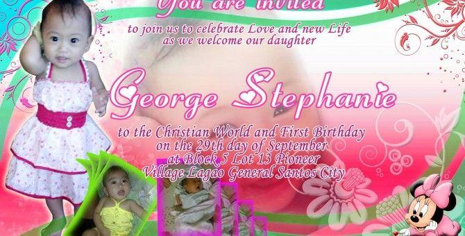 My daughters invitation