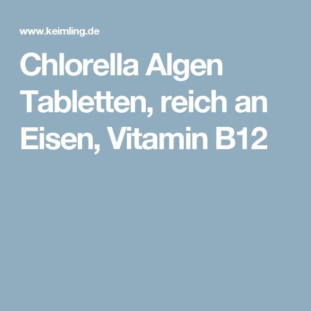 Chlorella Algen Tabletten, reich an Eisen, Vitamin B12