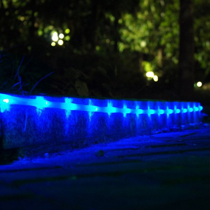 Amazon.com: LTE 50 LED Solar Rope Lights, 23ft, 16.5ft rope lights and 6.5ft lead cable included, Outdoor Waterproof LED Solar Rope Lights, Ideal for Decorations, Gardens, Lawn, Patio, Weddings, Parties.(Blue): Home Improvement