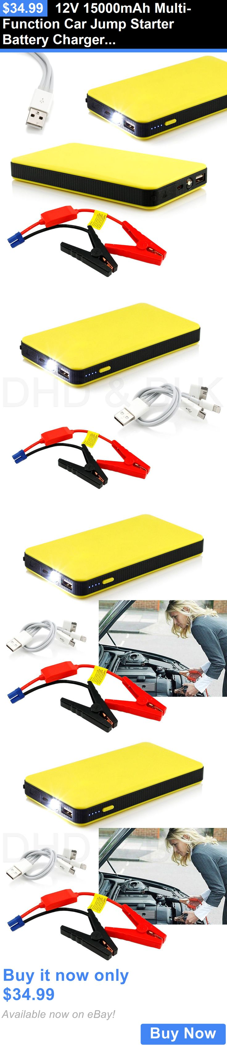 Motors Parts And Accessories: 12V 15000Mah Multi-Function Car Jump Starter Battery Charger Power Bank Booster BUY IT NOW ONLY: $34.99