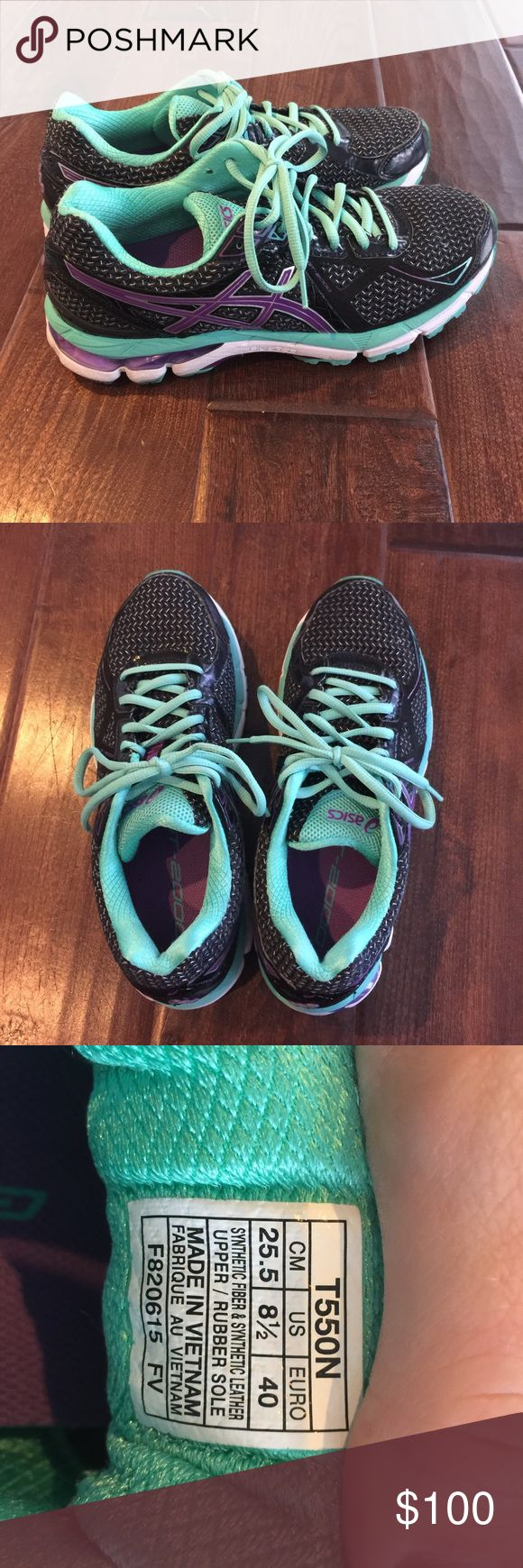 Women's ASIC GT 2000 stability running shoe These running shoes are practically brand new. I worn them inside on the treadmill 95% of the time so they haven't experienced much wear and tear. I ran less than 50 miles in them so they're in great condition Asics Shoes Athletic Shoes
