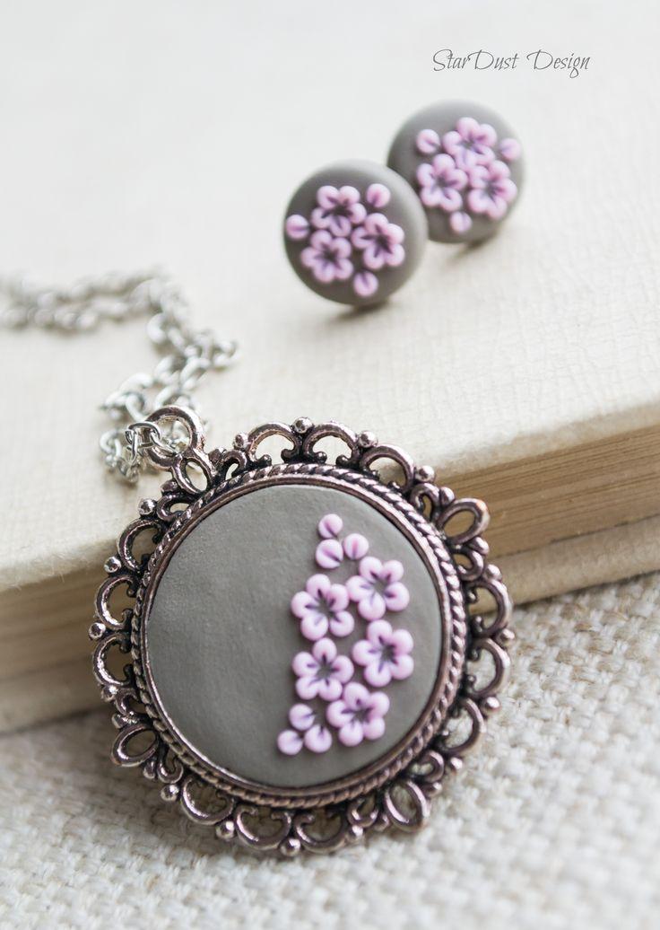 Polymer clay jewelry, polymer clay flowers https://www.facebook.com/stardustbyoanaconstantin