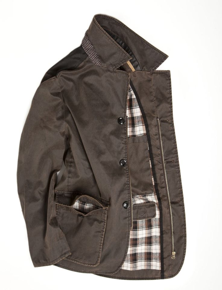 iFancy: Mens Wax Jacket Blazer in vintage style from Vedoneire