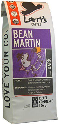 Larry's Beans Fair Trade Organic Coffee, Bean Martin, Whole Bean, 12 Ounce Bag - http://teacoffeestore.com/larrys-beans-fair-trade-organic-coffee-bean-martin-whole-bean-12-ounce-bag/