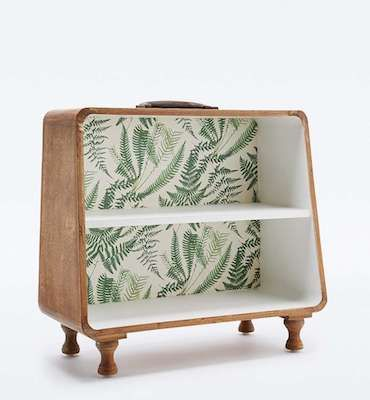 Pattern suitcase shelves from Urban Outfitters