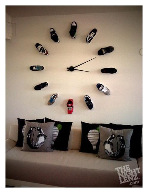 vibrant idea 30 inch clock. 20 Unusual and Creative DIY Clocks  But this gave me an idea on how to store your shoes 21 best Giant Wall Clock images Pinterest clocks