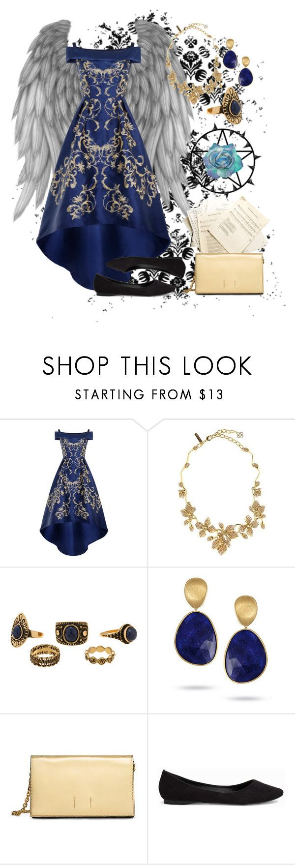 """""""Black Butler OC ~ Jane LeBlanch"""" by pudding-anyone ❤ liked on Polyvore featuring Chi Chi, Oscar de la Renta, Marco Bicego, Calvin Klein and Nly Shoes"""