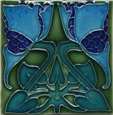 Art nouveau tile by porteous tile art nouveau and art - Art deco and art nouveau ...