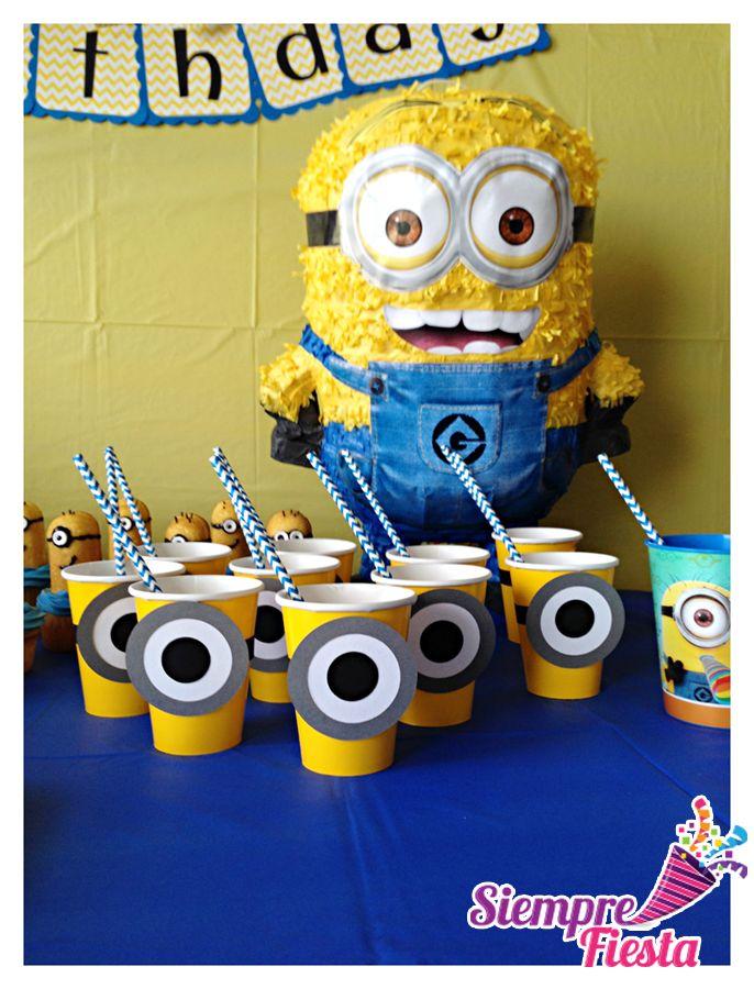 Ideas para fiesta de cumplea os de los minions mi villano for Articulos de decoracion
