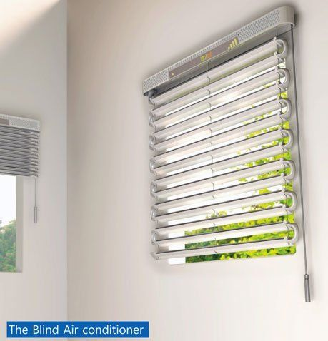 Green Concept: Solar Powered Blind Air Conditioner