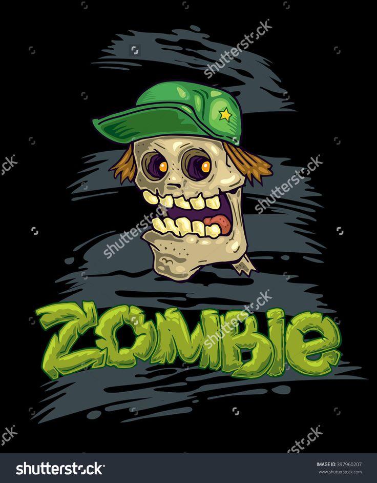 Zombie vector illustration. Sticker art illustration. T-shirt art illustration. Poster vector design.