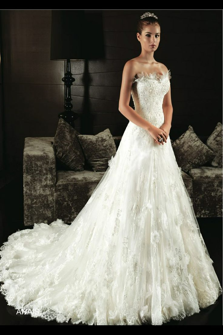 Intuzuri anais princess cut lace and beaded gown has a for Wedding dress beading patterns