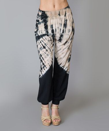 Another great find on #zulily! Navy Tie-Dye Harem Pants by Morning Apple #zulilyfinds