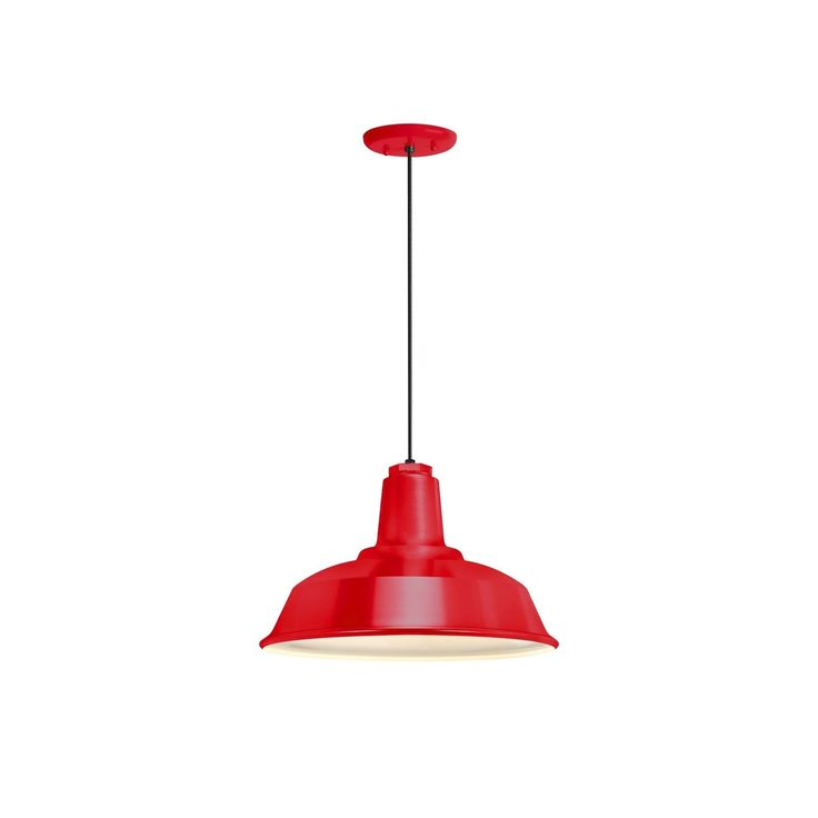 Troy RLM Lighting Heavy Duty Red Pendant, 14 inch Shade (Red) (Aluminum)