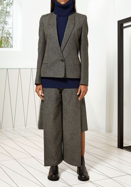 Light Grey Signature Fitted Jacket by Chalayan