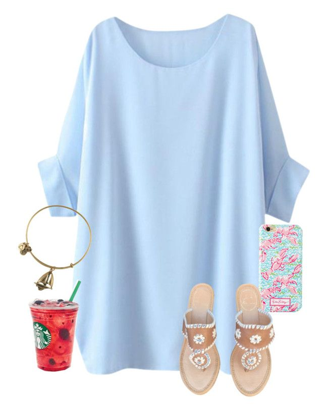 """""""//Cara Elizabeth"""" by preppy-and-classy-girls ❤ liked on Polyvore featuring Alex and Ani, Lilly Pulitzer and Jack Rogers"""