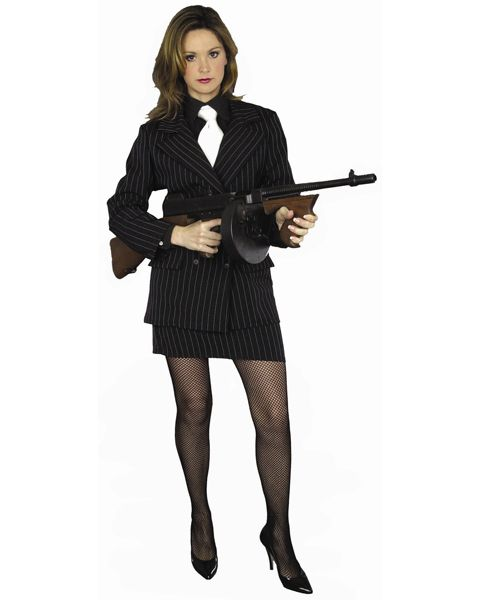Plus Size Sexy Mafia Costume for Adult,$29.96