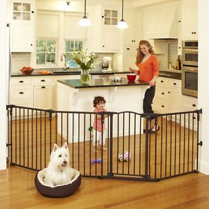 North States Superyard Arched Metal Baby Pet Gate Play Yard Bronze 4936 | eBay