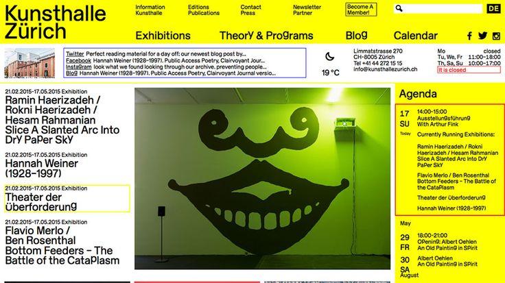 Kunsthalle Zürich | Brand | spyline · Web Design Showcase
