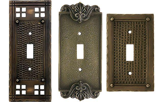 Arts and Crafts style switch plates #artsandcrafts #greenvillscrealestate #greenvilleschomerestoration