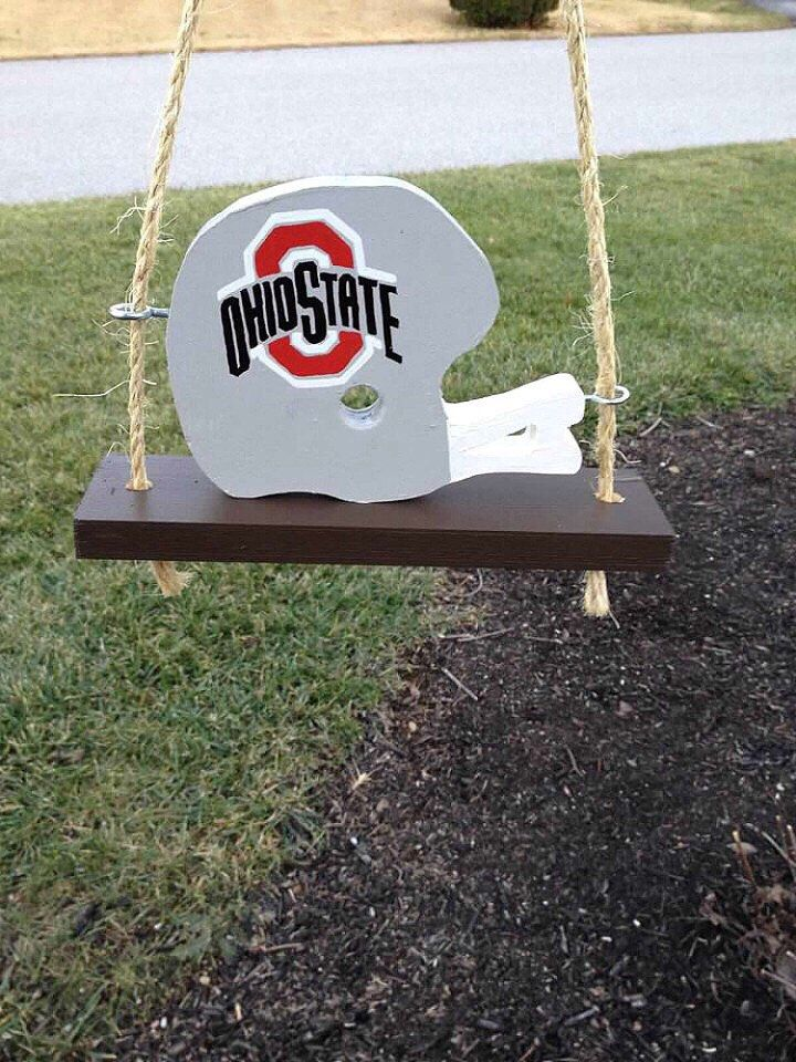 A personal favorite from my Etsy shop https://www.etsy.com/listing/287197059/ohio-state-football-helmet-swing-inside
