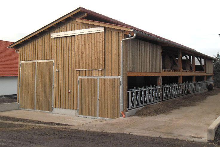 Prächtig Bullenmaststall aus Holz bauen #HaasLandwirtschaftsbau #GS_06