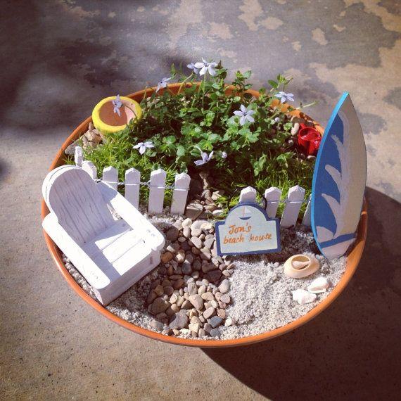 Miniature Beach Garden Escape by myminiaturegarden on Etsy, $25.00